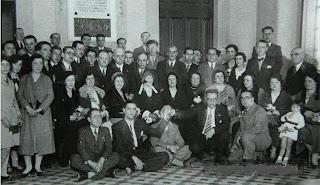 Colaboradores en los actos de la excursión a Manresa del Club Ajedrez Barcelona