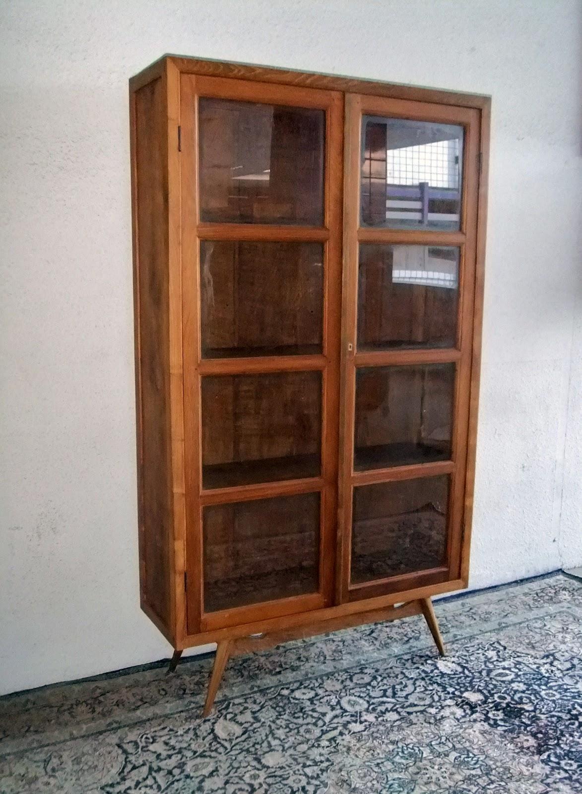 Vintage 8  Panel Glass Cupboards. L110 X D36 X H 192.