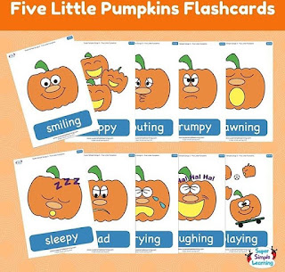Super Simple Learning Also Has These Great Flash Cards To Go Along With Their 5 Little Pumpkins Song They Can Be Downloaded For Free From Their Website
