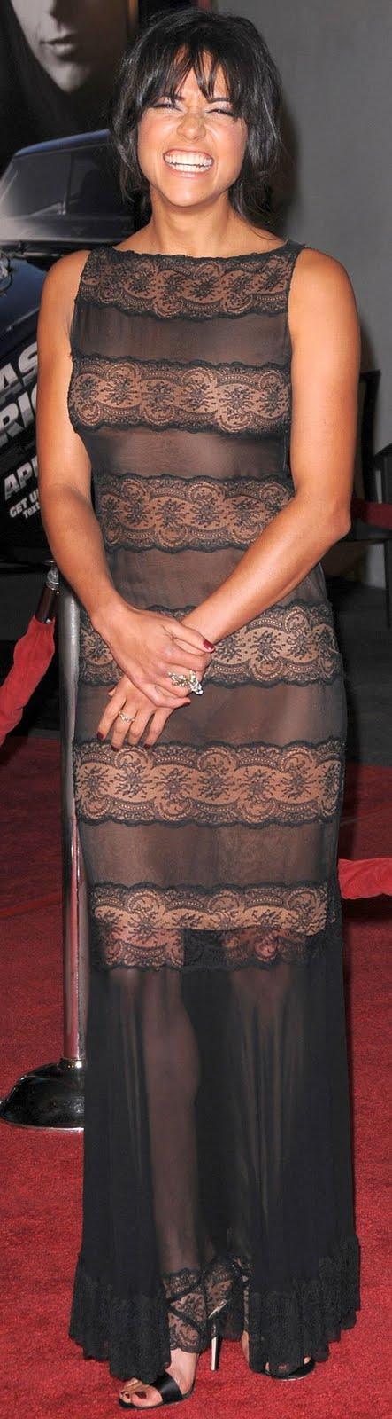 Michelle Rodriguez See Through Dress | King Babes Magazine