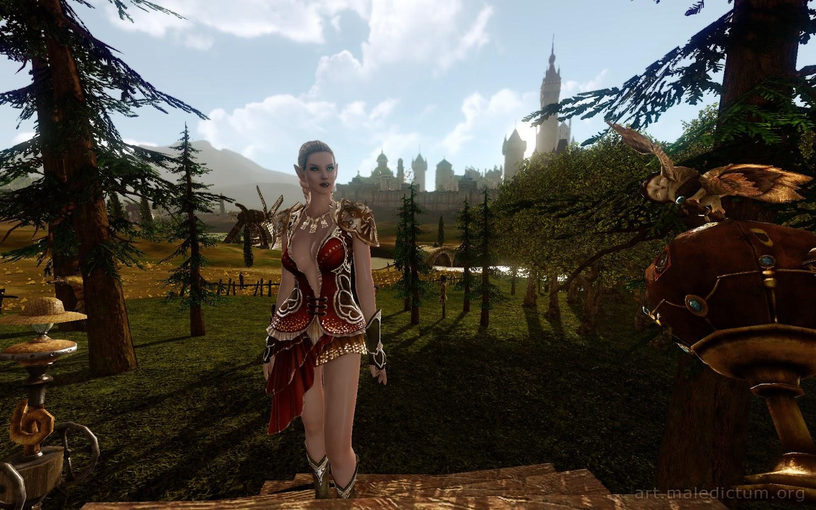 Archeage: Прекрасная эльфийка в своем прекрасном саду