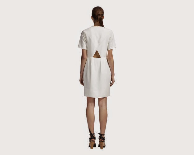 whistles white cut out dress,