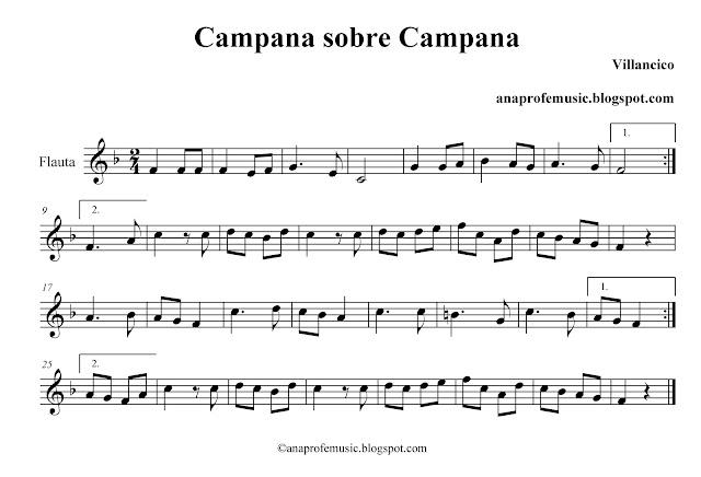 Partitura villancico campana sobre campana flauta oboe viol 237 n