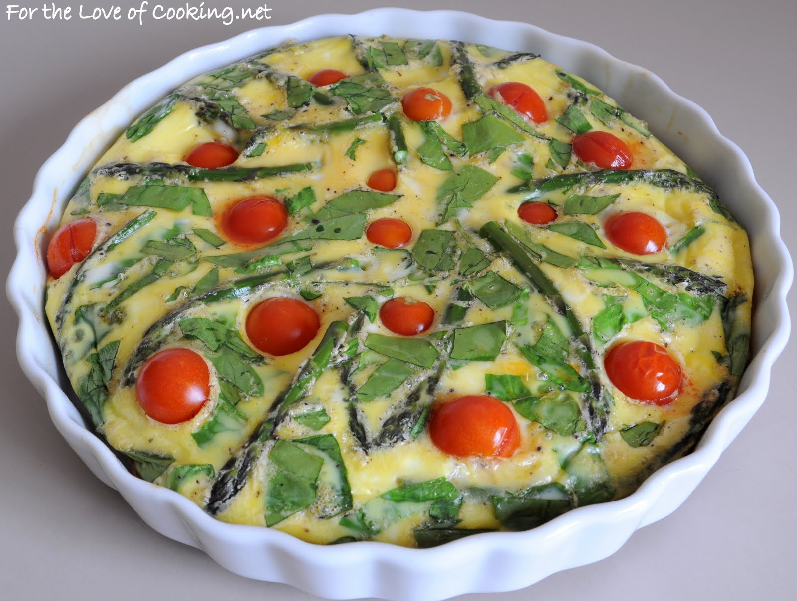 tomatoes and feta cheese asparagus spinach and feta cheese frittata ...
