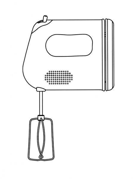 Dibujos para colorear utensilios de cocina for Utensilios de cocina batidora