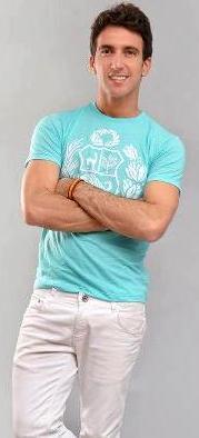 Antonio Pavón joven y delgado