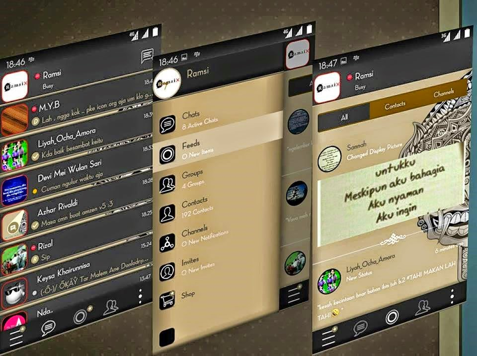 Download BBM Mod Batik Aksara