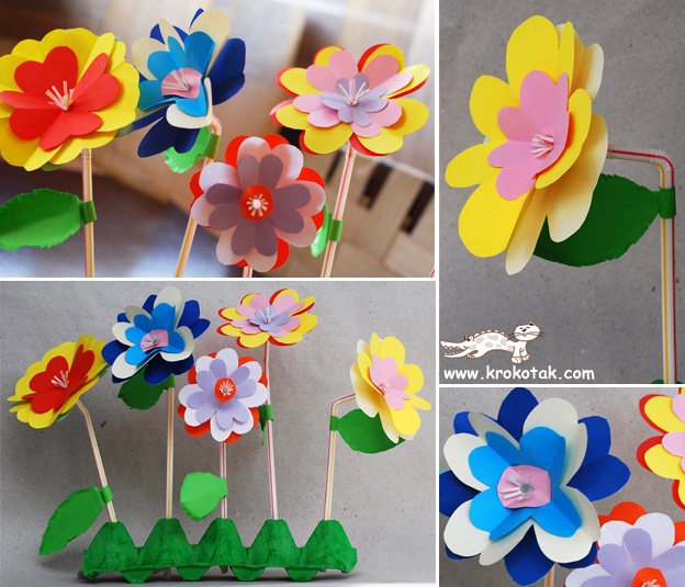 Цветы мамам к 8 марта своими руками