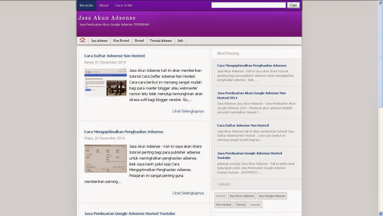 Purple Alesca Blogger Template