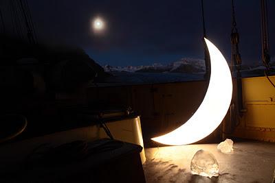 Lune sur terre
