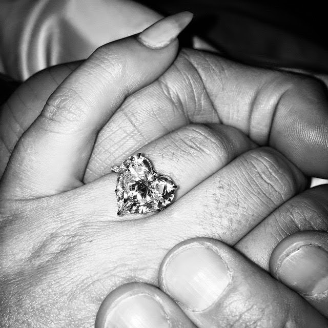 Lady Gaga's diamond engagement ring