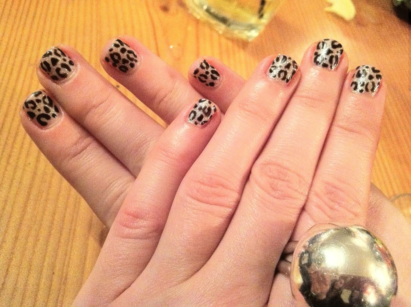 Brush up and polish up cnd shellac nail art even more leopard cnd shellac nail art even more leopard print prinsesfo Image collections