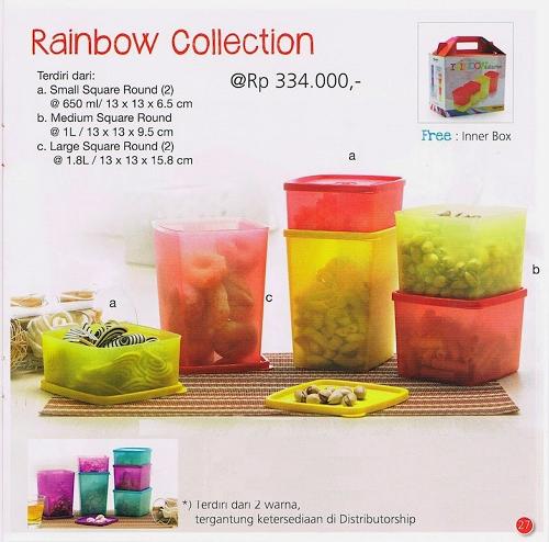 Tupperware Promo Agustus 2014 Rainbow Collection