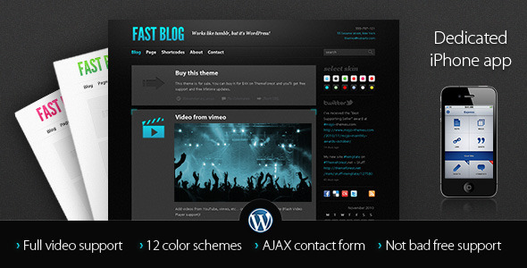 Image for Fast Blog WordPress Theme by ThemeForest