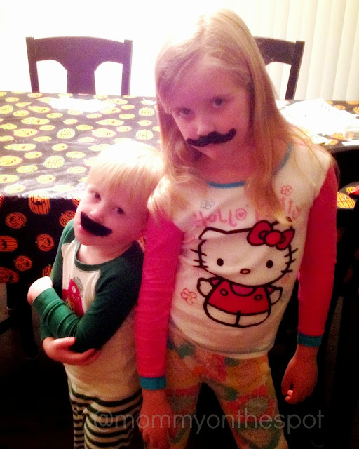 Moustache kids mommy on the spot erin janda rawlings