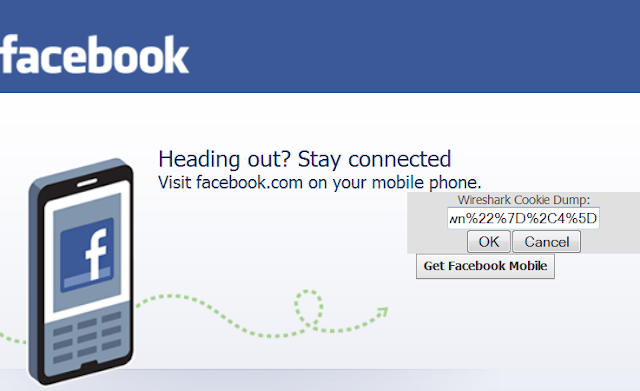 Facebook Session Hijack  Facebook+cookie