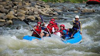Lomba arung jeram internasional di sungai Serayu