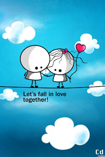 cartoon in love Free alone quote wallpaper