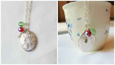 image custom locket necklace birthstones key charm silver floral swirl two cheeky monkeys