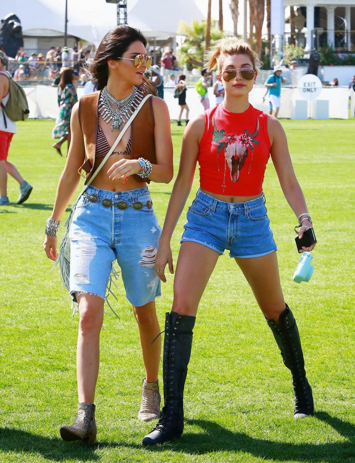 Kendall & Kylie Jenner, Hailey Baldwin – 2015 Coachella Music Festival in Indio – Day 1