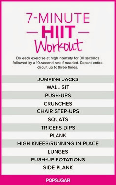 image relating to Printable Hiit Workouts named Decor Lust: 2 Instant HIIT Exercise