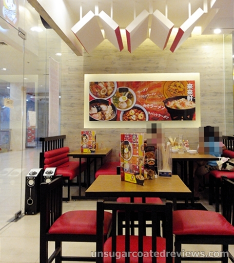 seats at Rai Rai Ken at Lucky Chinatown Mall in Binondo, Manila