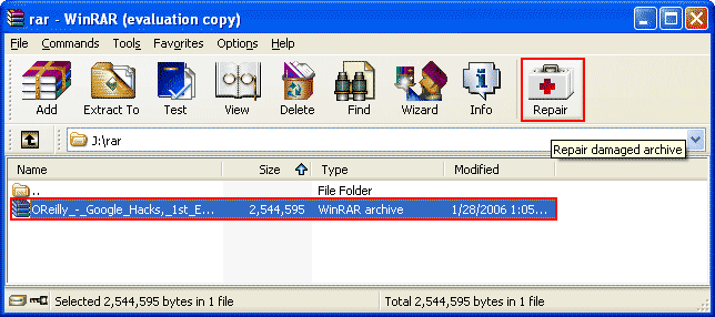 how to solve crc error in winrar