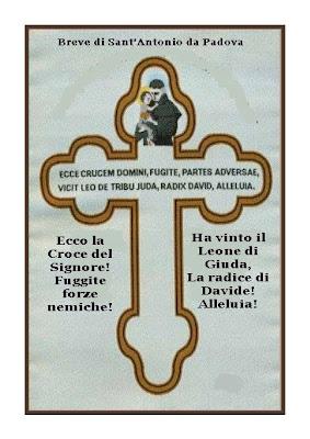 Breve di Sant'Antonio da Padova contro i disturbi del demonio