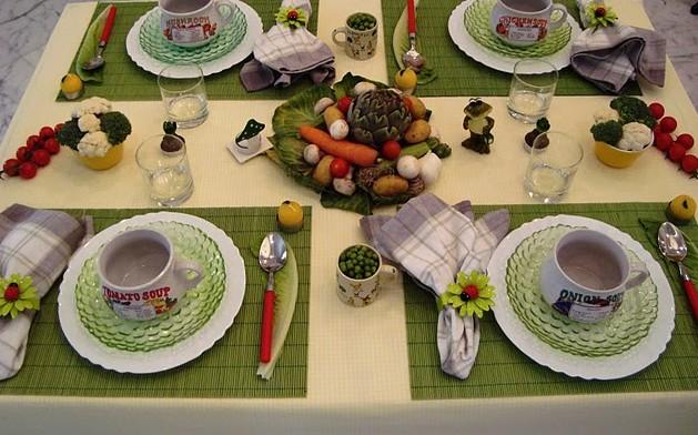décoration de table légumes #2