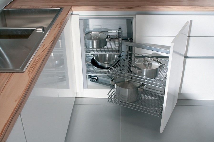 Кухонный шкаф угловой, фото