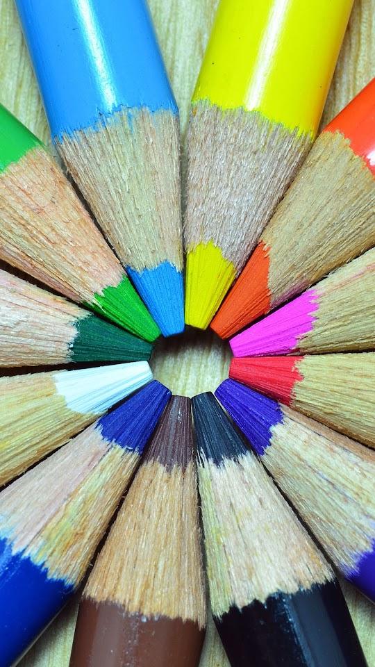 Colorful Pencils Circle  Galaxy Note HD Wallpaper