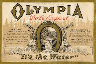How to explain band name Creedence Clearwater Revival - Olympia_Beer_label_1914