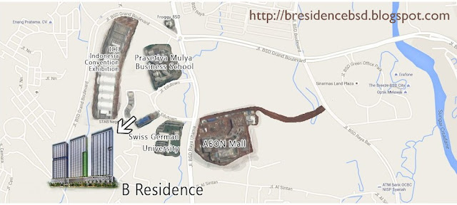 B-Residence Apartemen BSD Dekat AEON Mall