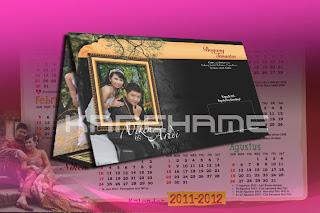 Undangan softcover kalender lipat 3