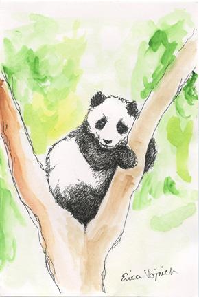 Panda Cub Art