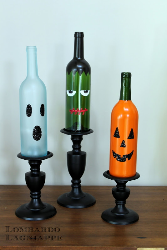 Lombardo lagniappe diy halloween wine bottles for Creative ideas for empty wine bottles