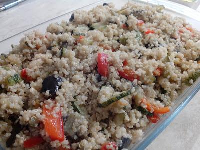quinoa cubettata  con verdure miste