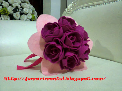 bunga tangan palsu dari felt