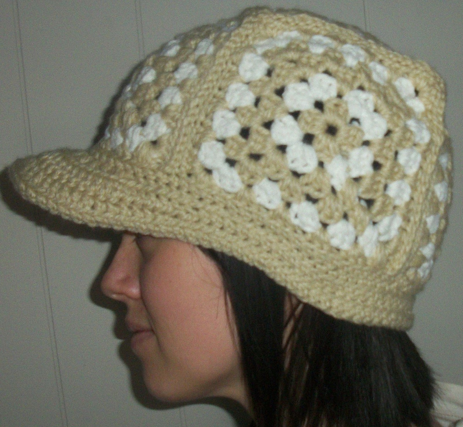 Free Crochet Pattern For Beanie With Bill : 365 Crochet