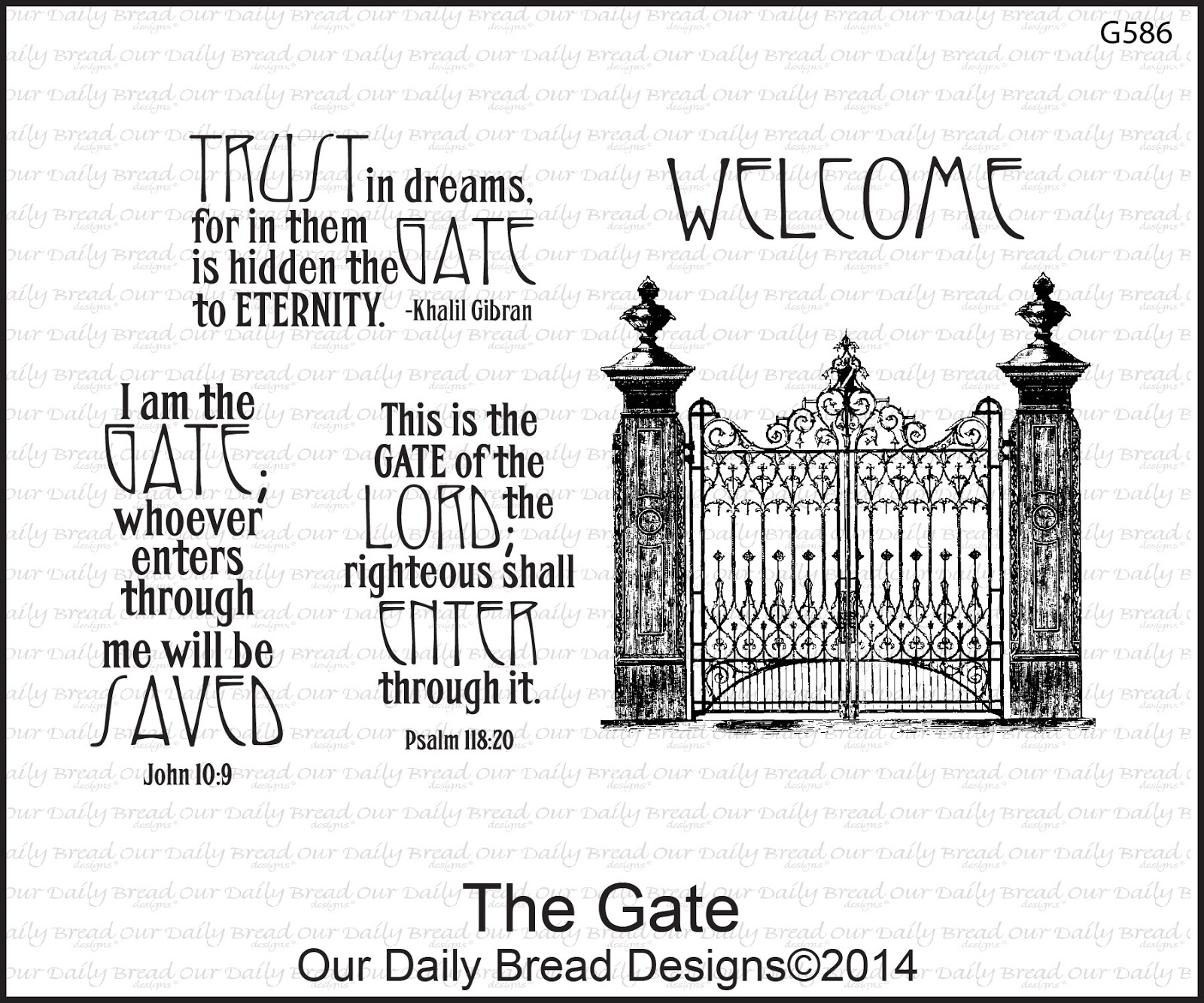 Stamps - Our Daily Bread Designs The Gate