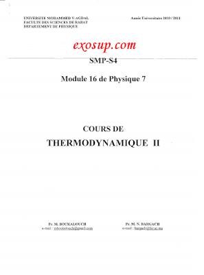 cours thermodynamique 2 smp s3 fsr