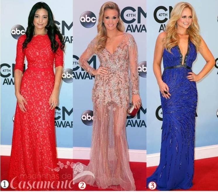Modelos de vestidos de festa das celebridades