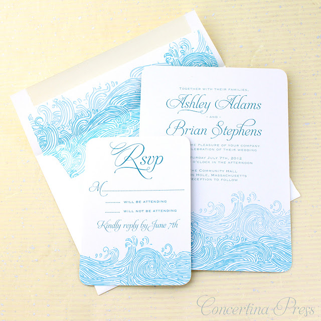 Cape Cod wedding blog photo from Concertina Press - Stationery and Invitations about The perfect invitations for a boat wedding!