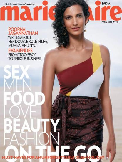 Pooja Jagannathan on the cover of Marie Claire India - April 2012 - Pooja Jagannathan on the cover of Marie Claire India - April 2012