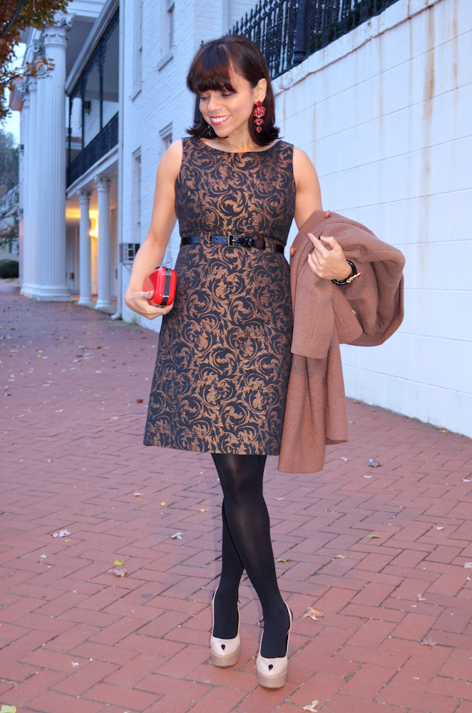 Brocade Dress Outfit