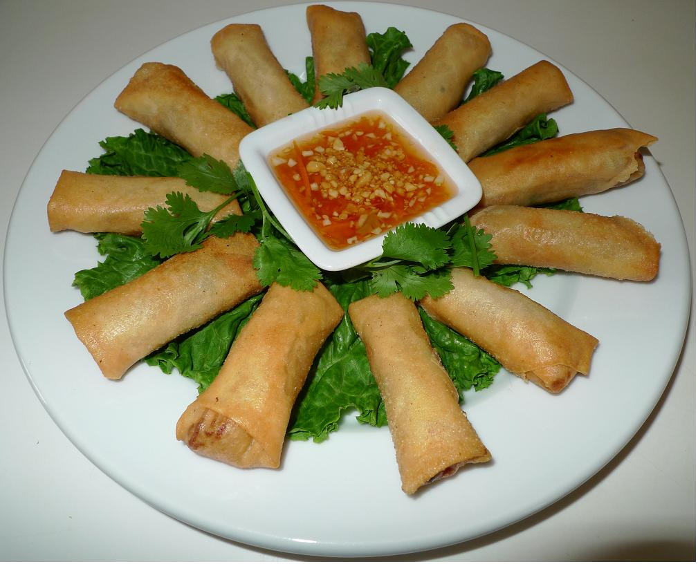 how to make deep fried spring rolls with rice paper