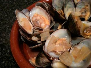 Cocina con Aníbal Almejas al Jerez Almejas a la marinera