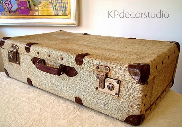 maleta antigua para decorar