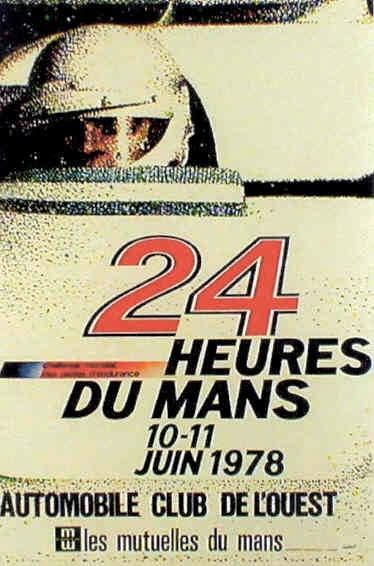 Affiche officielle des 24 Heures du Mans 1978