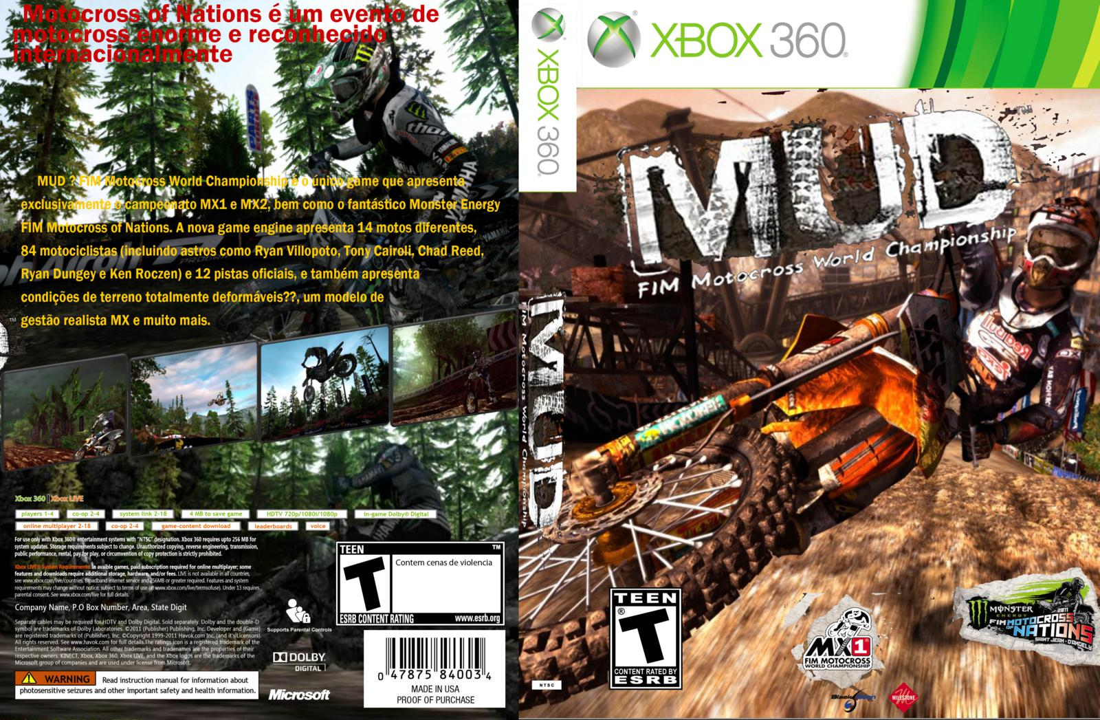 Amazon.com: MUD - FIM Motocross World Championship - Xbox 360 ...